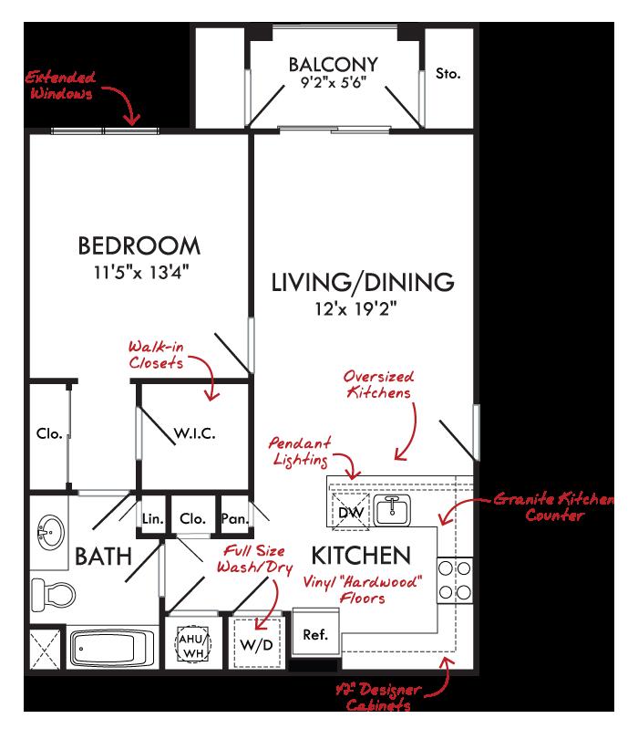 Bull Run 1 Bed 1 Bath Arcadia Run Apartments In Manassas Va